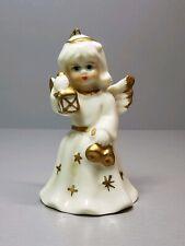 Vintage Porcelain Angel Figurine Bell Christmas Decorations Germany