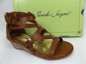 SARAH-JAYNE LACEY COGNAC Wedges Sandals, Toddler Girls'  Size 8.0 T,     1714