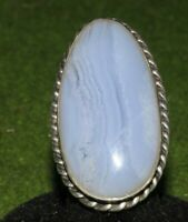 Sterling Large Moon Stone Ring