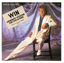 """DAVID CASSIDY  7""""   """"ROMANCE (LET YOUR HEART GO)""""  WITH COMPETITION STICKER"""