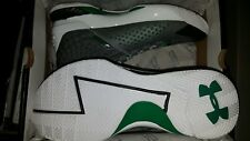 DS UNDER ARMOUR CURRY 1 GOLF SCRATCH GREEN WHITE BLACK 1258723-100 SIZE 10!
