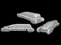 Tabletop Miniatur Fahrzeug Hover Limousine 28mm für Warhammer 40k / Infinity o.Ä