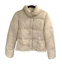 Old Navy White Puffer Coat Women's Sz M