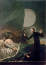 Goya 1788 St Francis Borgia Helping a Dying Impenitent Christian 7x5 Inch Print