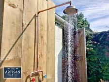Copper Pipe Rainfall Shower - Rustic / Vintage / Industrial - Copper Rain Shower