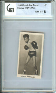 1938 KNOCK OUT RAZOR # 47 SMALL MONTANA NM-MT 8 FAMOUS PRIZE FIGHTERS