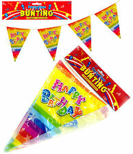 HAPPY BIRTHDAY PARTY BUNTING FLAGS BANNER DECORATION PENNANT BOYS GIRLS PARTY