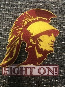 """USC Southern Cal Trojans Embroidered Iron On Patch 3"""" X 2.5"""""""