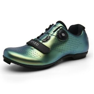 Men Road Bike Cycling Shoes Microtex Cleat SPD Cycling Spinning Shoes Size 11