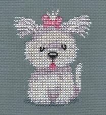 KL89 Cassie! Chiot Cross Stitch Kit Par Genny Haines de goldleaf Needlework