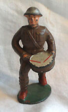 Barclay Lead Toy Soldier Marching with his Drum from Old Estate Pre War
