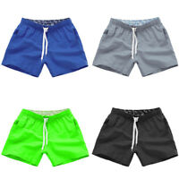 MENS PLAIN SHORTS CARGO COMBAT CASUAL SUMMER BEACH POLY COTTON POCKETS PANTS US