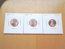 2017 P D S Lincoln Cent Penny Proof 3 Coin Set Lot