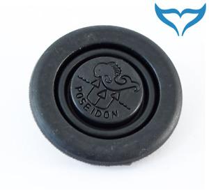 Poseidon Luftduschenknopf Cyklon 2. Stufe Gummi schwarz Purge Button Logo 2nd Ne