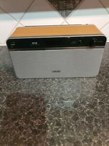 SONY - WOOD EFFECT - DAB - FM RADIO - XDR-S10DAB-MISSING 1 DIAL COVER-SEE PICS