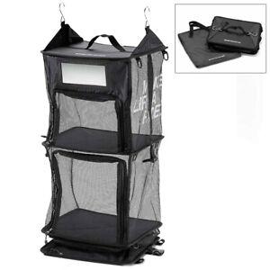 BMW Motorrad Genuine Clothes Organizer Hanger System 3 Section Black