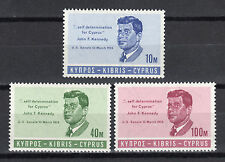 CYPRUS 1965 PRESIDENT KENNEDY MNH