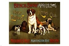 NEW ENGLAND KENNEL SHOW vintage ad poster 24X36 BIG little DOGS collectors