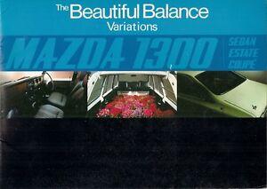 Mazda 1300 1971-72 UK Market Sales Brochure Saloon Coupe Estate Familia