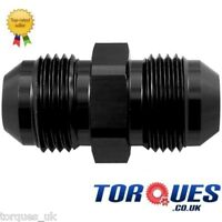 AN 12 (AN12 -12 JIC ) Straight Flare Union Adapter (Male to Male) in Black