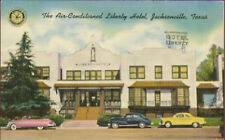 Postcard Liberty Hotel 80 Rooms Jacksonville Texas HWY 69,79,175  c1940