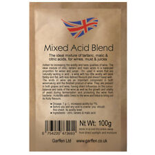 Acid Blend 100g Adjusting Acidity of Wines, Must, Juices/ Tartaric Malic Citric