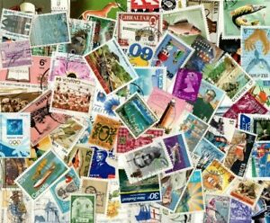 1 FULL POUND ALL WORLD SELECTION inc COMMONWEALTH OFF PAPER STAMPS T58