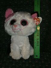 "Ty Boo* MUFFIN *Black,White&Pink CAT 9"" Medium* 2014 MWMT*red tag*glitter eyes"