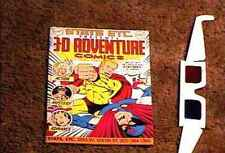 3-D ADVENTURES #1 COMIC BOOK WITH GLASSES NM