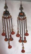 """4"""" Long Jasper Beads Dangle Drop Chandelier Earrings"""