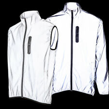 Mens High Visibility Reflective Cycling Waterproof Jacket & Running Coat & Vest