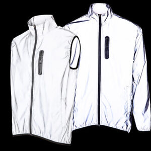 Men's High Visibility Reflective Cycling Waterproof Jacket & Running Coat & Vest