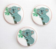 12 PRE CUT EDIBLE RICE WAFER PAPER CARD KOALA CUPCAKE CAKE PARTY TOPPERS