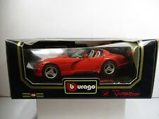 1/18 BURAGO RED 1992 DODGE VIPER RT/10