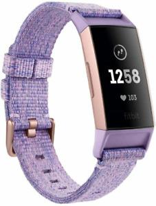 Fitbit Charge 3 Special Edition mit NFC. Lavendel Gewebe/Aluminium-Roségold