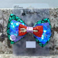 Disney Parks Interchangeable Ears Light Up Princess The Little Mermaid Ariel Bow