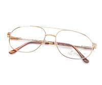 Vintage Hilton Monaco 307 C3 Pilot Gold Unisex Designer Eyeglasses Frame Lunette