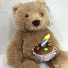NWT Gund Greetings Happy Birthday Bear Sound Animated Stuffed Light Up Noise