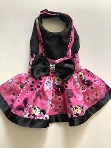 Handmade  Minnie Mouse Theme Doggie Dress Xs