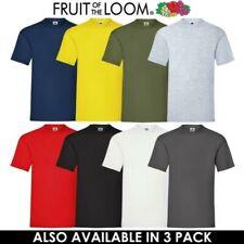 Hombre Mujer Algodón Camisetas Original Fruit of the Loom Cuello Redondo Corta