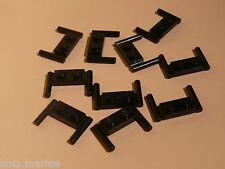 Lego 10 guidons noirs set 6988 6981 10200 2554 / 10 black plate 1 x 4 w/ handles