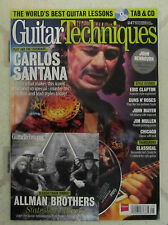 GUITAR TECHNIQUES +CD Sept 2015 CARLOS SANTANA Allman Brothers CHICAGO Guns Rose