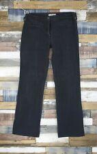 People Tree Ladies Black Washout 100% Cotton Jeans Size W 30 Leg 30