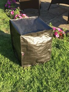 Small Square Fire Pit Cover, Black 50cm High X 40cm Made In The UK