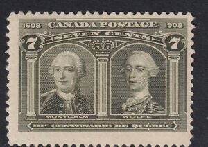 CANADA SG192, 7c OLIVE - GREEN MOUNTED MINT, CAT £90