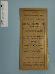 Cuba Reparto Marti Habana Informative  Brochure Map 1950