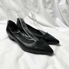 Kenneth Cole Ballet Flats Size 6 36 Black Leather Pointed Toe