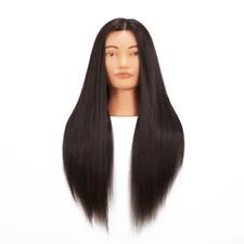 Mannequin Head 100% Real Hair Hairdresser Training Doll Head Manikin BLACK