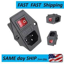 IEC320 Female with switch - - Fast Same Day SHIPPING - AC Female with fuse & SW