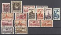 Saargebiet, gestempelter Posten aus 1925-34 auf Steckkarte (28614)